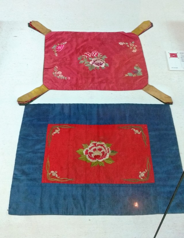 19th century embroidered wrapping cloths from the Chojun Textile and Quilt Art Musuem