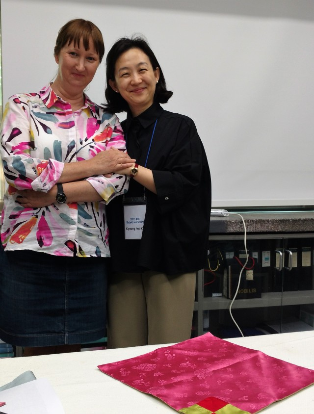 Myself and Kim Kyung Hee Textile professor at EWA Womens University