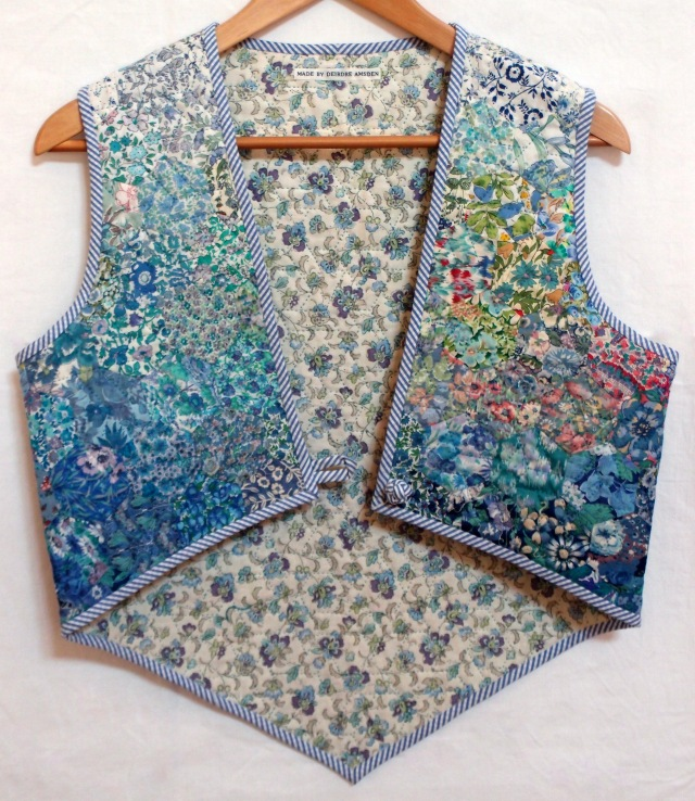 Colourwash Waistcoat iII n Blues - DA/textile/433