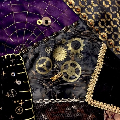 3. Tamara Schultz Sweden_Steampunk Crazy Quilts Block or Pin Cushion